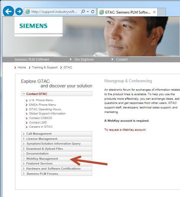 WebkeyManagement